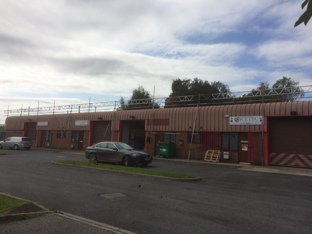 scaffolding on industrial units